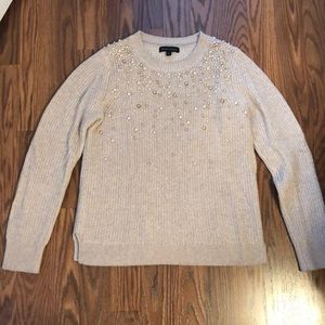 Rose Gold Pearl Sweater